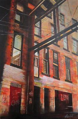 Painting - Gastown Alley by Victoria Heryet