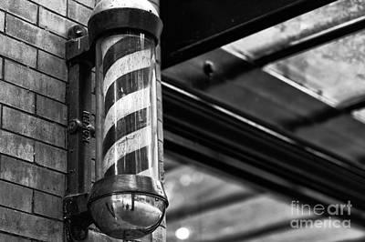 Gastown Barber's Pole Art Print by John Rizzuto