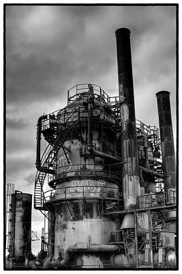 Seattle Photograph - Gasworks Park by David Patterson