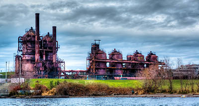 Photograph - Gasworks Park In Seattle Washington by David Patterson