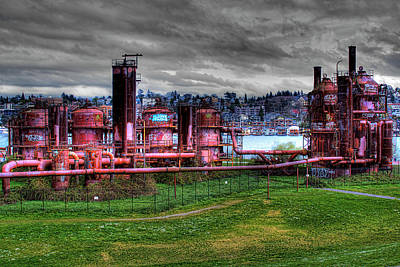 Structure Photograph - Gasworks Park Seattle by David Patterson