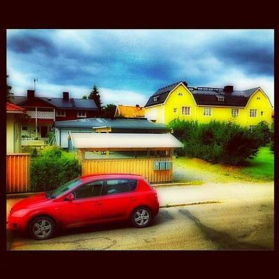 Color Contrast Wall Art - Photograph - #gata #umeå #sverige #hdr #norrland by Carina Ro