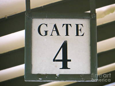 Photograph - Gate #4 by Joy Hardee