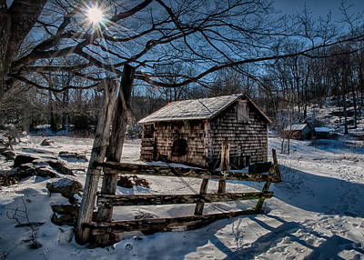 Photograph - Gate And Shed by Fred LeBlanc