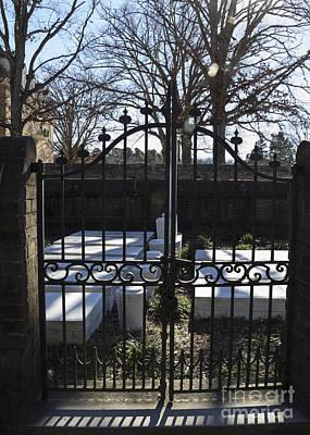 Marble Slabs Photograph - Gate At The Secretarys Office Graveyard by Teresa Mucha