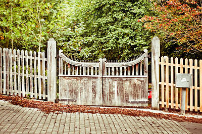 England Photograph - Gate In Autumn by Tom Gowanlock