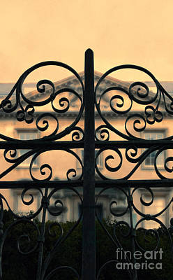 Photograph - Gate In Front Of Mansion by Jill Battaglia