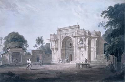 Religious Drawing - Gate Leading To A Mosque, Chunargarh by Thomas & William Daniell