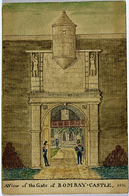 Bombay Photograph - Gate Of Bombay Castle by British Library