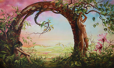 Painting - Gate Of Illusion by Anna Ewa Miarczynska