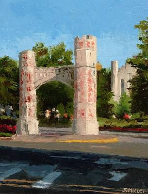 Painting - Gate On Parrington Oval At Ou by Sylvia Miller