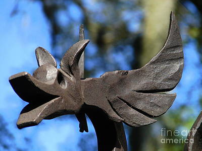 Photograph - Gate Ornament 2 by Lew Davis