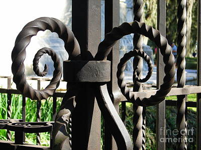 Photograph - Gate Ornament 3 by Lew Davis