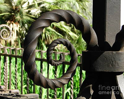 Photograph - Gate Ornament 4 by Lew Davis