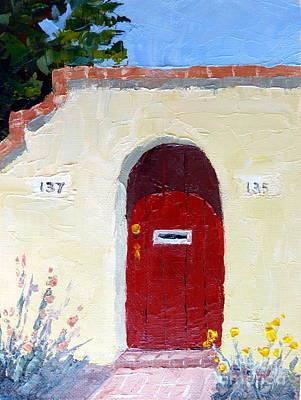 Southwest Gate Painting - Washington Street Tucson by Susan Woodward