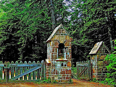 Gate To Carriage Road In Acadia National Park-maine Art Print by Ruth Hager