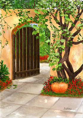 Painting - Gate To The Garden by Sena Wilson