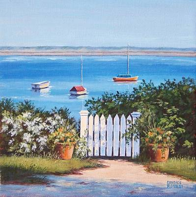 P Town Painting - Gate To The Water by Candice Ronesi