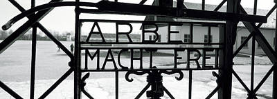 Gate With Inscription Arbeit Macht Art Print by Panoramic Images