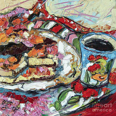 Painting - Gateaux And My Rooster Mug by Ginette Callaway