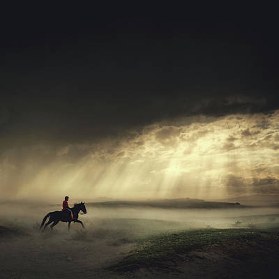 Riding Wall Art - Photograph - Gateaway by H?seyin Ta?k?n