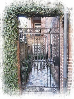 Photograph - Gated Courtyard by Joe Duket
