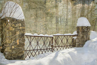 Gated In The Snow Art Print