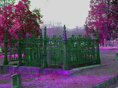 Art Print featuring the photograph Gated Tomb by Cleaster Cotton