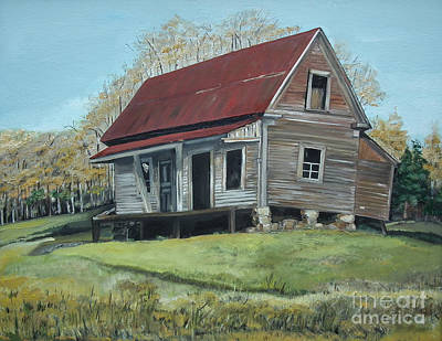 Painting - Gates Chapel - Ellijay Ga - Old Homestead by Jan Dappen