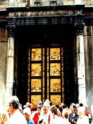 Photograph - Gates Of Paradise The Baptistry Florence Italy by Merton Allen