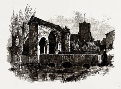 Gateway And Bridge, Waltham Abbey, Uk Art Print by Litz Collection
