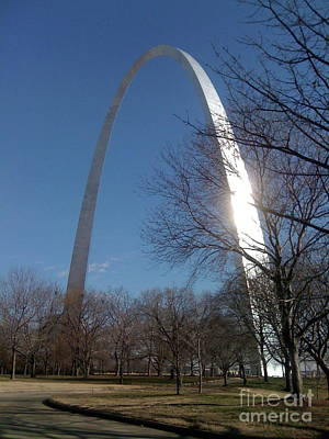 Photograph - Gateway Arch Brilliance by Barbara Plattenburg