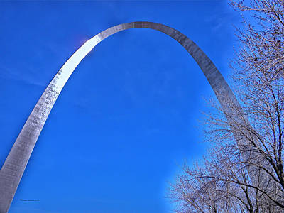 Gateway Arch St Louis 03 Art Print by Thomas Woolworth