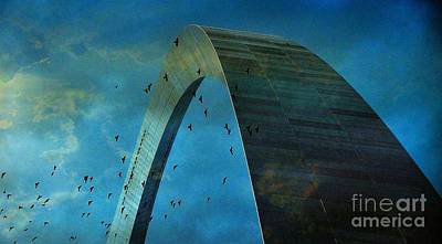Gateway Arch With Birds Art Print by Janette Boyd