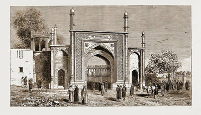 Pakistan Drawing - Gateway At Peshawar, Pakistan, Erected To The Memory by Litz Collection