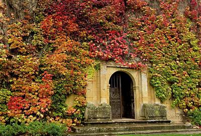 Gateway Covered In Virginia Creeper Art Print by Bob Gibbons