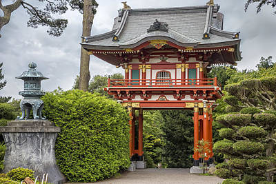 Entryway Photograph - Gateway - Japanese Tea Garden - Golden Gate Park by Adam Romanowicz