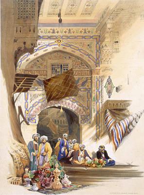 Market Drawing - Gateway Of A Bazaar, Grand Cairo, Pub by A. Margaretta Burr