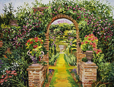 Garden Gates Painting - Gateway Of Brick by David Lloyd Glover