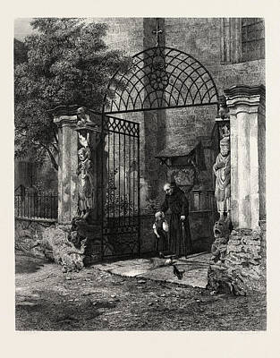 Gateway Of The Cathedral Coire, Chur, Switzerland Art Print by Swiss School