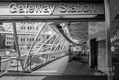 Transit Photograph - Gateway T Station  Pittsburgh by Amy Cicconi
