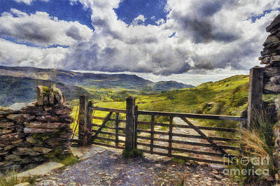 Field. Cloud Digital Art - Gateway To Freedom by Ian Mitchell