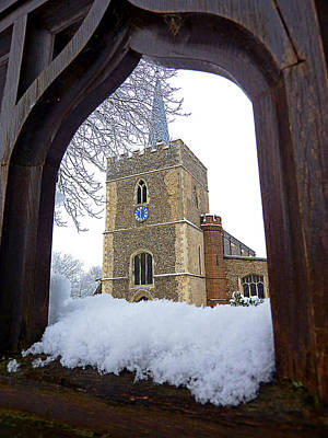 Photograph - Gateway To Heaven - Church Viewed Through The Gate by Gill Billington