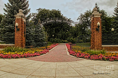 Art Print featuring the photograph Gateway To Ndsu by Trey Foerster