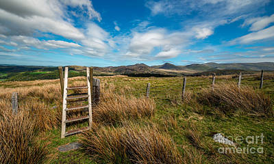 Fence Digital Art - Gateway To The Mountains by Adrian Evans