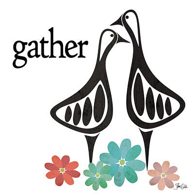 Geese Painting - Gather by Shanni Welsh