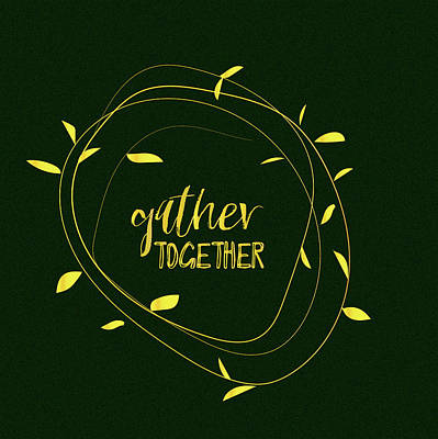 Gather Together - Emerald Art Print