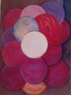 Painting - Gathering Of 6 Spheres by Marian Hebert