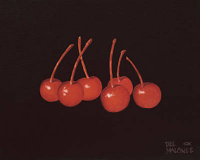 Painting - Gathering Of Cherries by Del Malonee