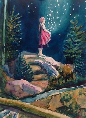 Contemplative Painting - Gathering Stars by Christine Kfoury